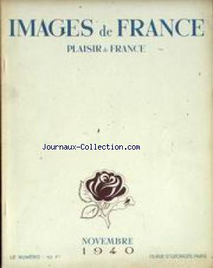 IMAGES DE FRANCE PLAISIR DE FRANCE no:70 01/11/1940