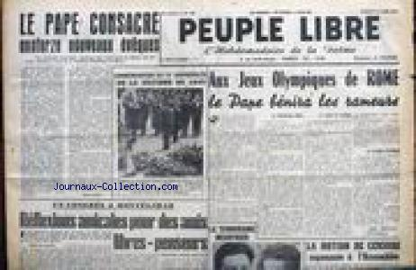 PEUPLE LIBRE no:640 14/05/1960