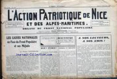 ACTION PATRIOTIQUE DE NICE (L') no:1169 02/11/1935