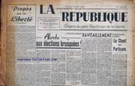 REPUBLIQUE (LA) no:4 03/03/1946