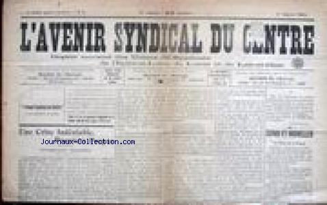 AVENIR SYNDICAL DU CENTRE (L') no:9 01/01/1914