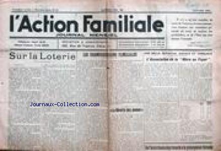 ACTION FAMILIALE (L') no:37 01/01/1934