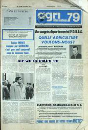 AGRI 79 INFORMATIONS no:159 15/04/1977