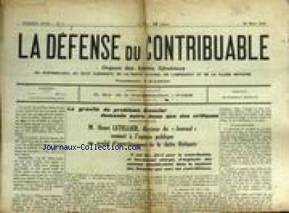 DEFENSE DU CONTRIBUABLE (LA) no:4 22/03/1924