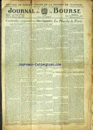 JOURNAL DE LA BOURSE no:1074 22/01/1944