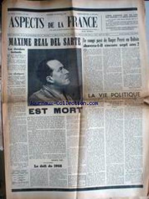 ASPECTS DE LA FRANCE no:284 19/02/1954