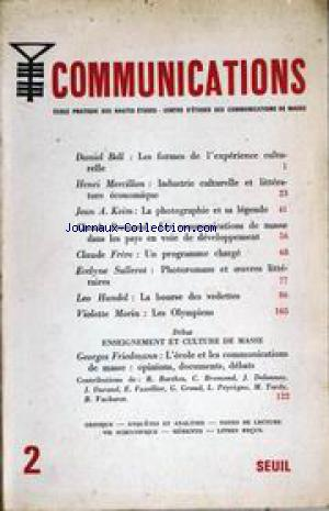 COMMUNICATIONS no:2 01/09/1961