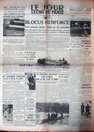 JOUR L'ECHO DE PARIS (LE) no: 07/03/1940