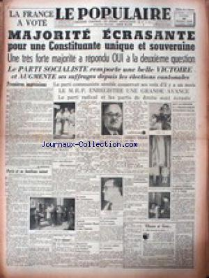 POPULAIRE DE PARIS (LE) no: 22/10/1945