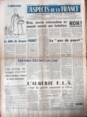ASPECTS DE LA FRANCE no:708 05/04/1962