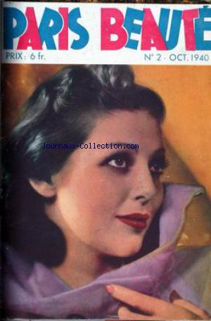 PARIS BEAUTE no:2 01/10/1940