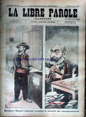 LIBRE PAROLE ILLUSTREE (LA) no:28 20/01/1894