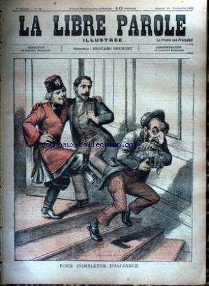 LIBRE PAROLE ILLUSTREE (LA) no:19 18/11/1893
