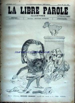 LIBRE PAROLE ILLUSTREE (LA) no:7 26/08/1893