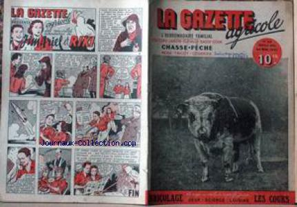 GAZETTE AGRICOLE (LA) no:43 24/05/1947