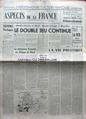 ASPECTS DE LA FRANCE no:310 20/08/1954