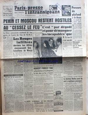 PARIS PRESSE L'INTRANSIGEANT no: 13/01/1951