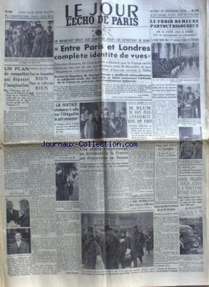 JOUR L'ECHO DE PARIS (LE) no:353 20/12/1938