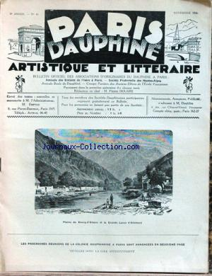 PARIS DAUPHINE no:49 01/11/1934
