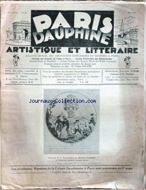 PARIS DAUPHINE no:45 01/05/1934