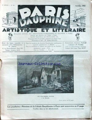 PARIS DAUPHINE no:42 01/12/1933