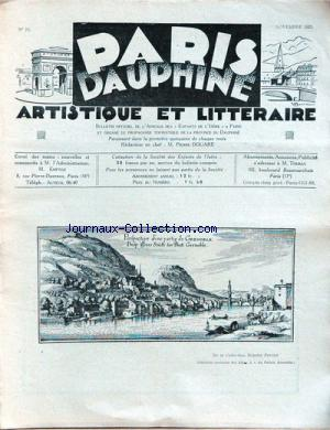 PARIS DAUPHINE no:24 01/11/1931