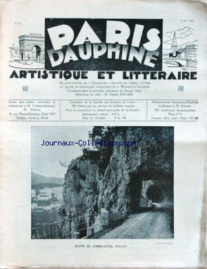 PARIS DAUPHINE no:22 01/06/1931