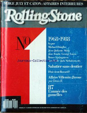 ROLLING STONE no:1 13/01/1988