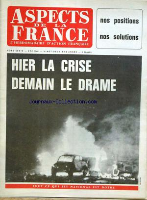 ASPECTS DE LA FRANCE no: 01/07/1968