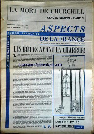 ASPECTS DE LA FRANCE no:855 28/01/1965