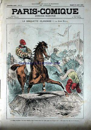PARIS COMIQUE no:17 23/04/1870