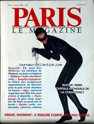 PARIS LE MAGAZINE no:15 01/01/1987