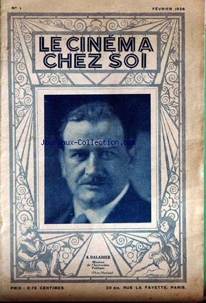 CINEMA CHEZ SOI (LE) no:1 01/02/1926