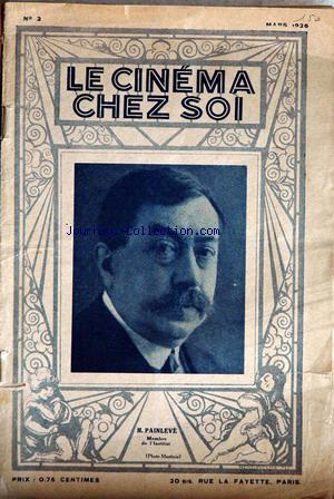 CINEMA CHEZ SOI (LE) no:2 01/03/1926