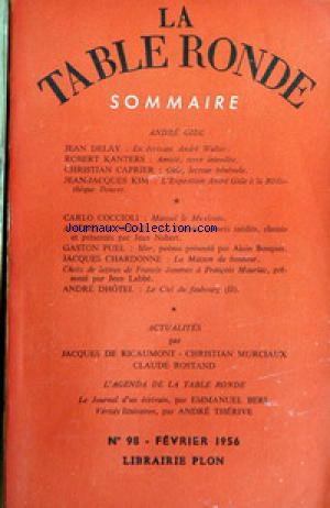 TABLE RONDE (LA) no:98 01/02/1956
