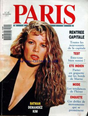 PARIS LE MAGAZINE no:40 01/09/1989