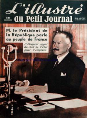 PETIT JOURNAL SUPPLEMENT ILLUSTRE (LE) no: 21/03/1937