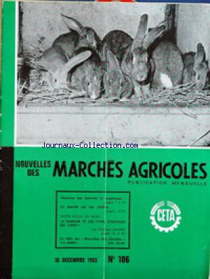 MARCHES AGRICOLES no:106 16/12/1965