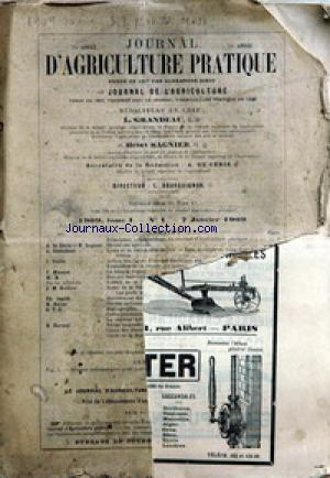 JOURNAL D'AGRICULTURE no:1 07/01/1909