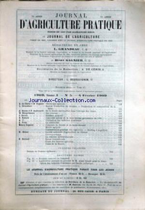 JOURNAL D'AGRICULTURE no:5 04/02/1909