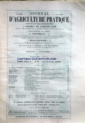 JOURNAL D'AGRICULTURE no:6 11/02/1909