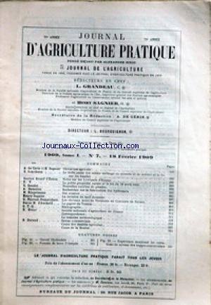 JOURNAL D'AGRICULTURE no:7 18/02/1909