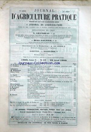 JOURNAL D'AGRICULTURE no:17 29/04/1909