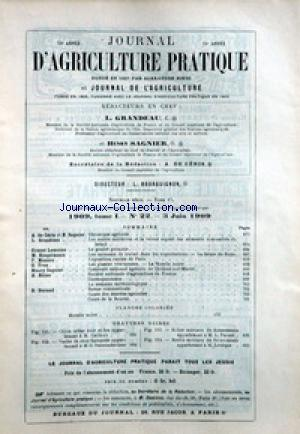 JOURNAL D'AGRICULTURE no:22 03/06/1909