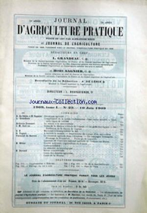 JOURNAL D'AGRICULTURE no:23 10/06/1909