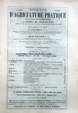 JOURNAL D'AGRICULTURE no:24 17/06/1909