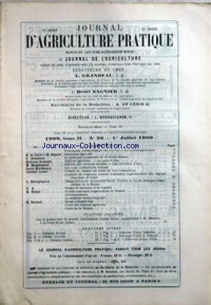 JOURNAL D'AGRICULTURE no:26 01/07/1909