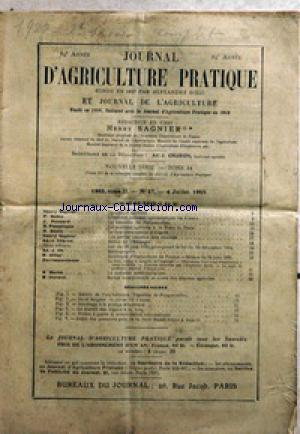 JOURNAL D'AGRICULTURE no:27 04/07/1925
