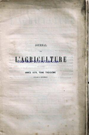 JOURNAL D'AGRICULTURE no:3 01/07/1878