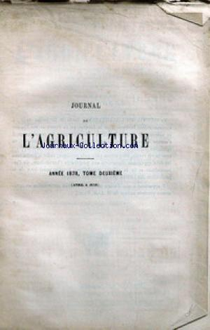 JOURNAL D'AGRICULTURE no:2 01/04/1878